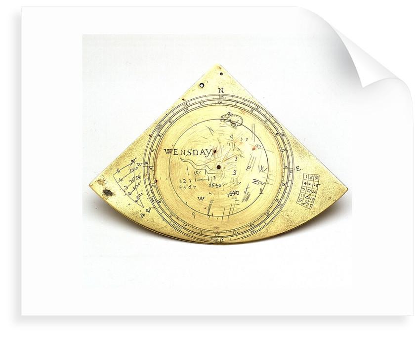 Reverse of Gunter quadrant by unknown
