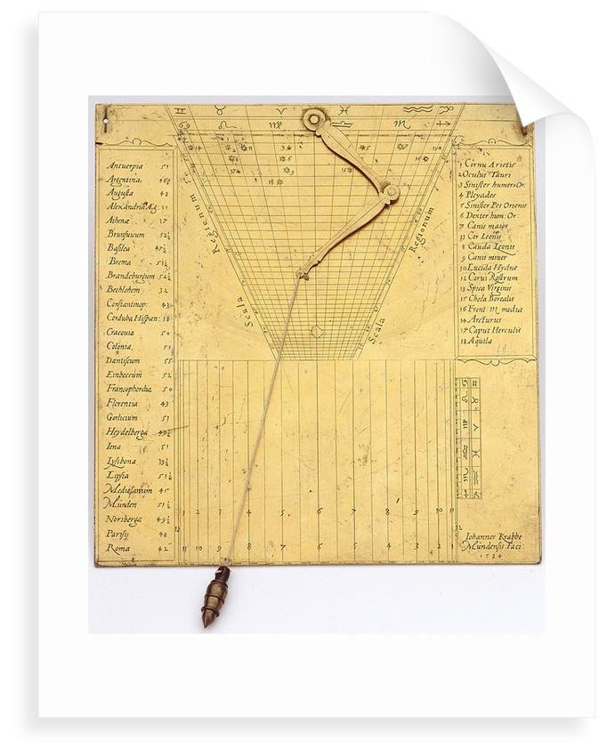 Regiomontanus dial by Johann Krabbe