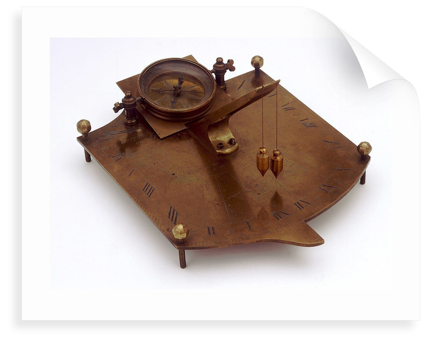 Inclining dial by Jacques Le Maire