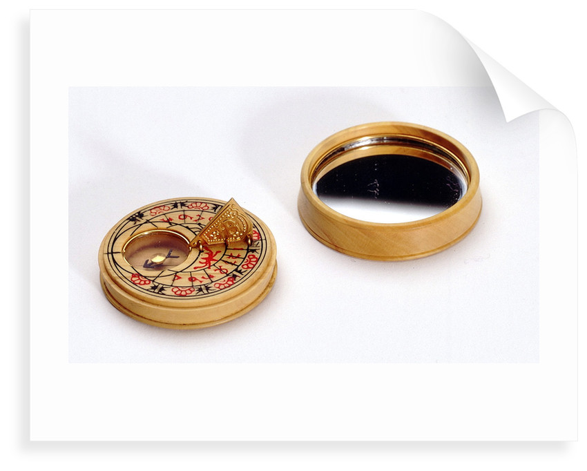 Compass dial, with lid by Mary Rose Trust