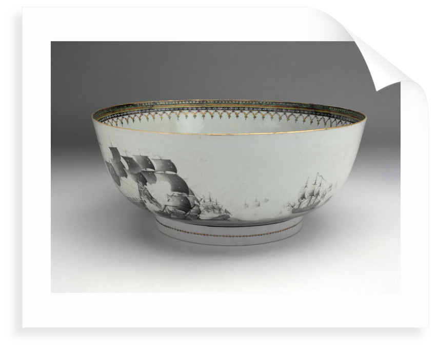 Battle of the Saints punch bowl by unknown