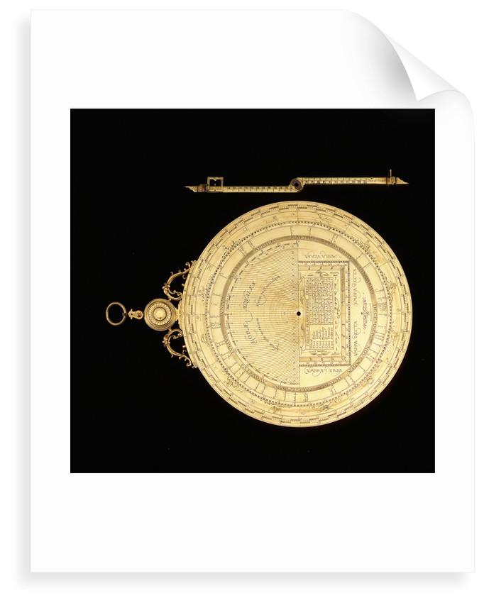 Astrolabe: dismounted reverse by Erasmus Habermel