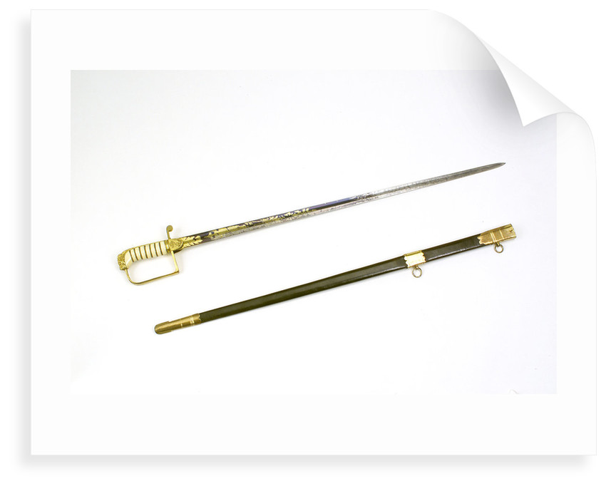 Straight stirrup hilted sword by Dudley