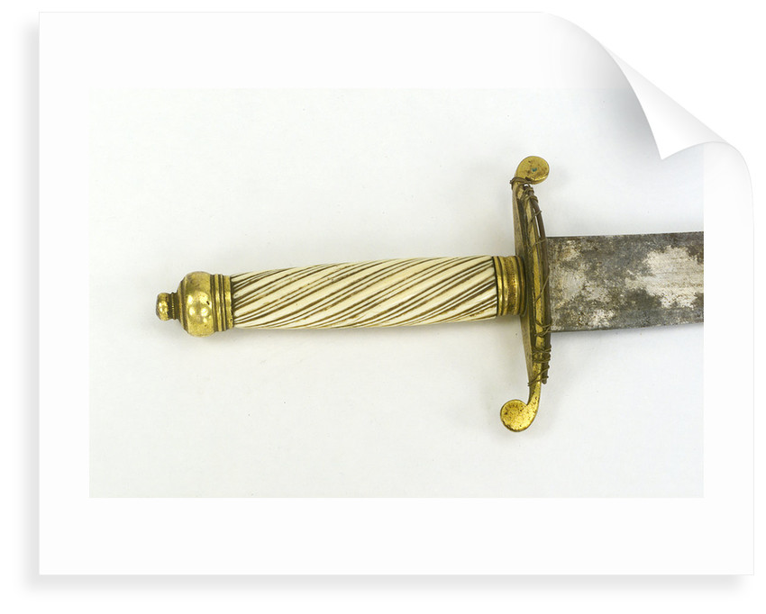 Hilt of dirk, curved blade by unknown