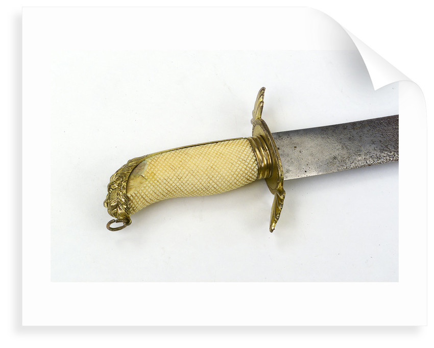 Hilt of curved bladed dirk by Read