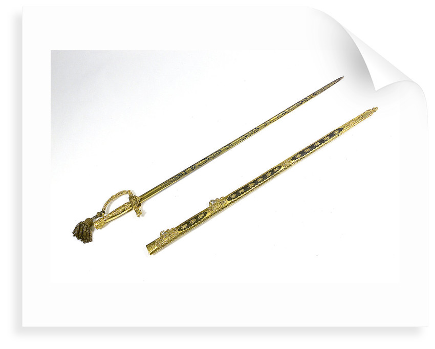 Presentation sword owned by Captain Sir Thomas Staines (1776-1830) by R. Teed