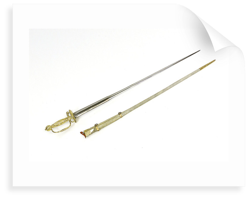 Sword, which belonged to Admiral of the Fleet Lord Richard Howe by unknown