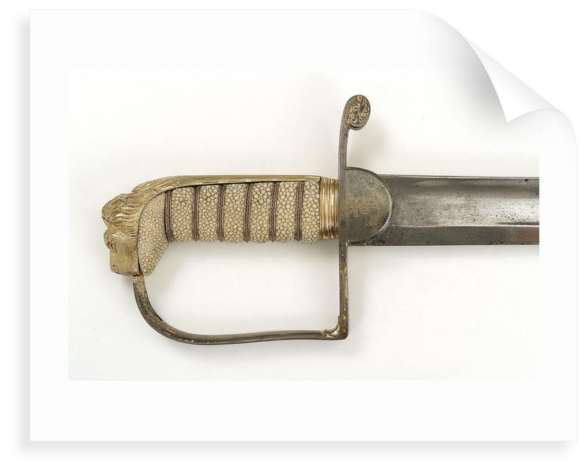 Straight stirrup hilted sword by Prosser