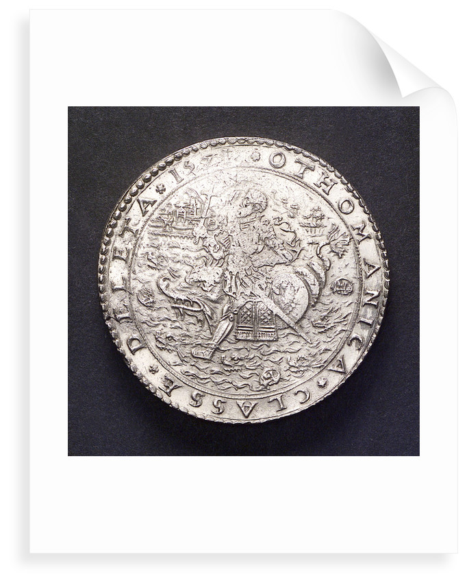 Medal commemorating the Battle of Lepanto, 1571; reverse by unknown