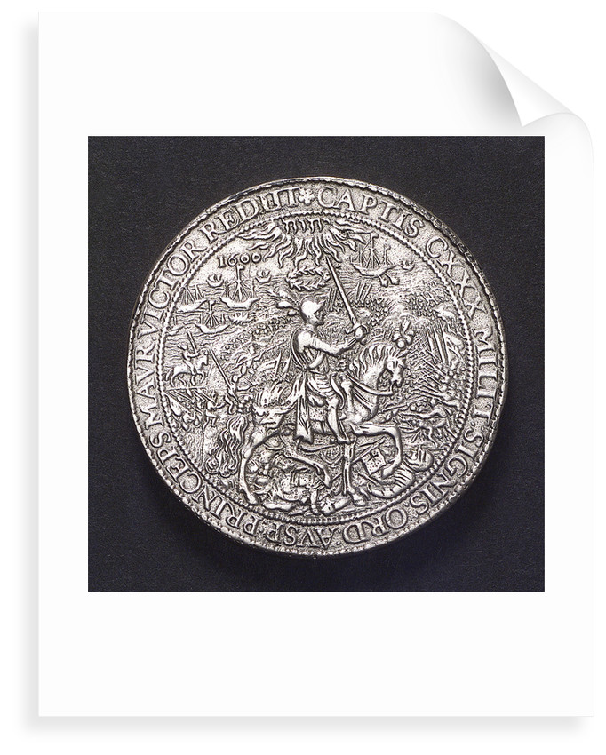 Medal commemorating the Battle of Nieuport, 1600; reverse by unknown