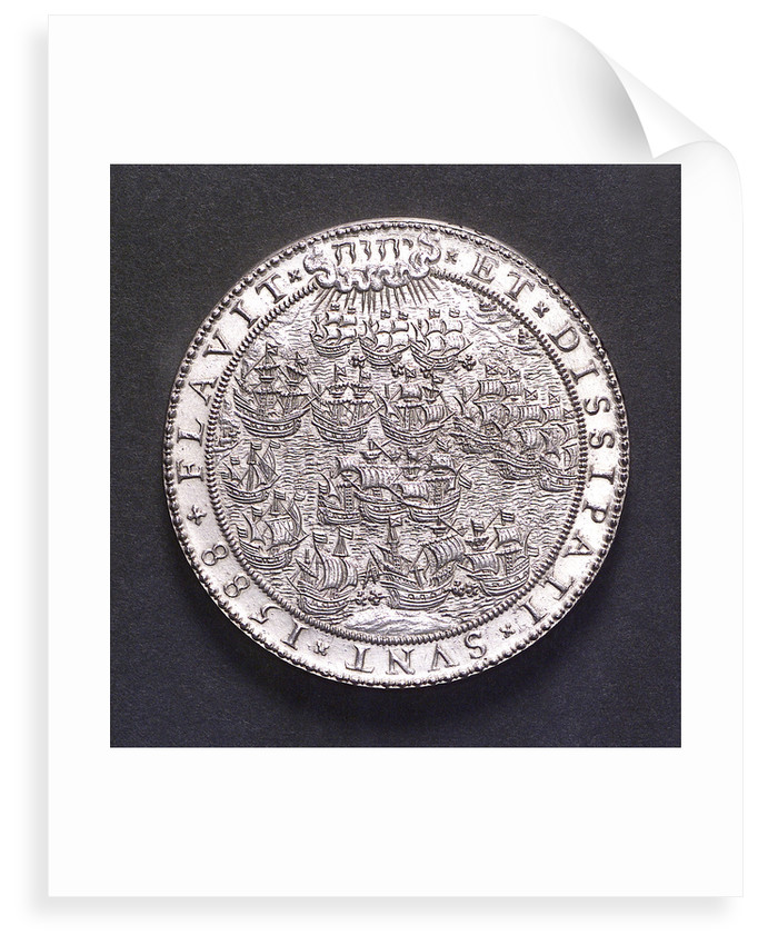 Medal commemorating the defeat of the Spanish Armada, 1588; obverse by Gerard van Bylaer