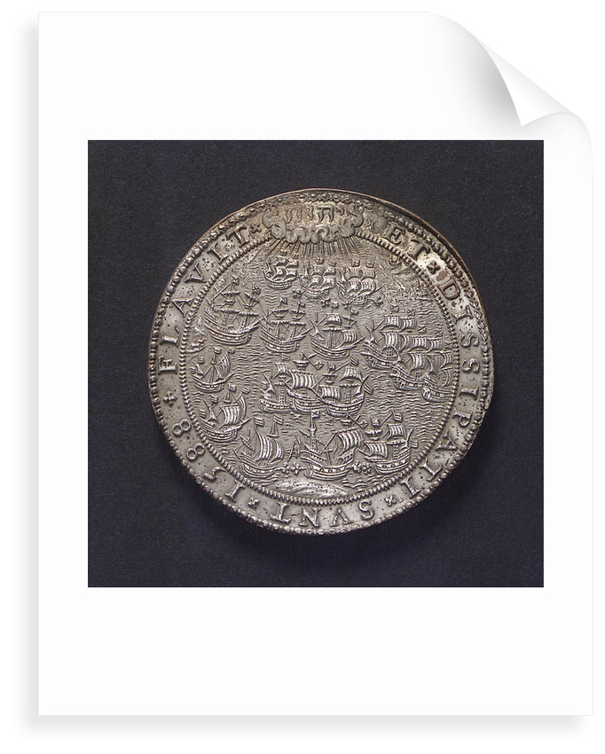 Medal commemorating the defeat of the Spanish Armada, 1588; obverse by unknown
