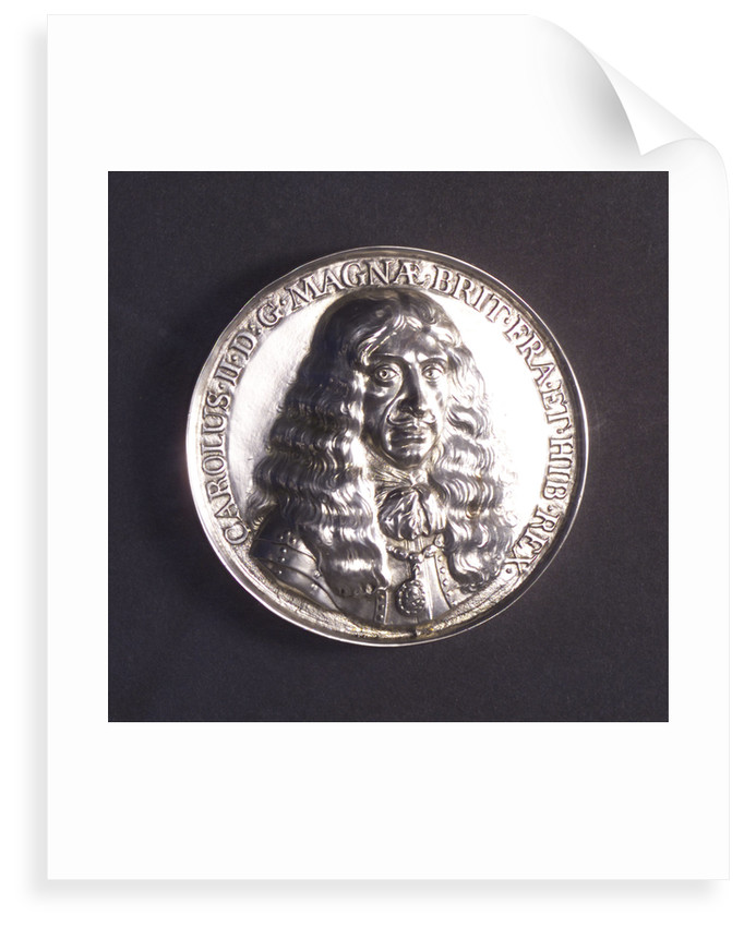 Medal commemorating the embarkation at Scheveningen of King Charles II, 1660; obverse by P. van Abeele