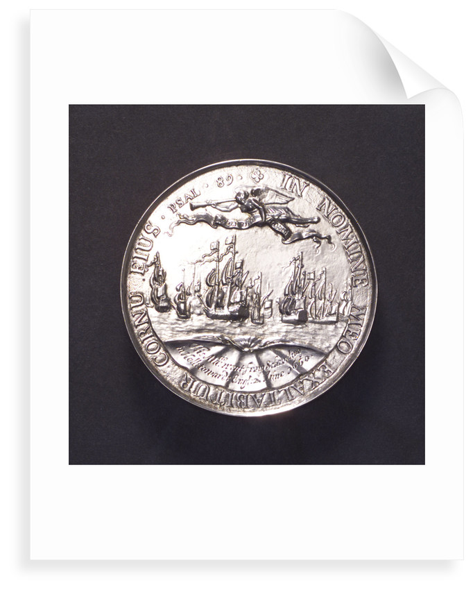 Medal commemorating the embarkation at Scheveningen of King Charles II, 1660; reverse by P. van Abeele