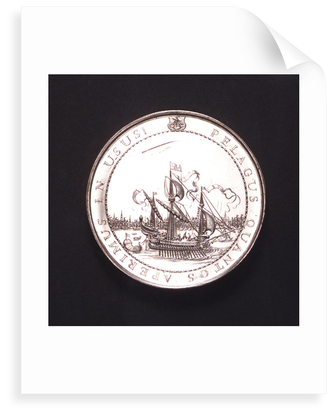 Medal commemorating the inauguration of the City Hall of Amsterdam, 1655; reverse by J. Pool