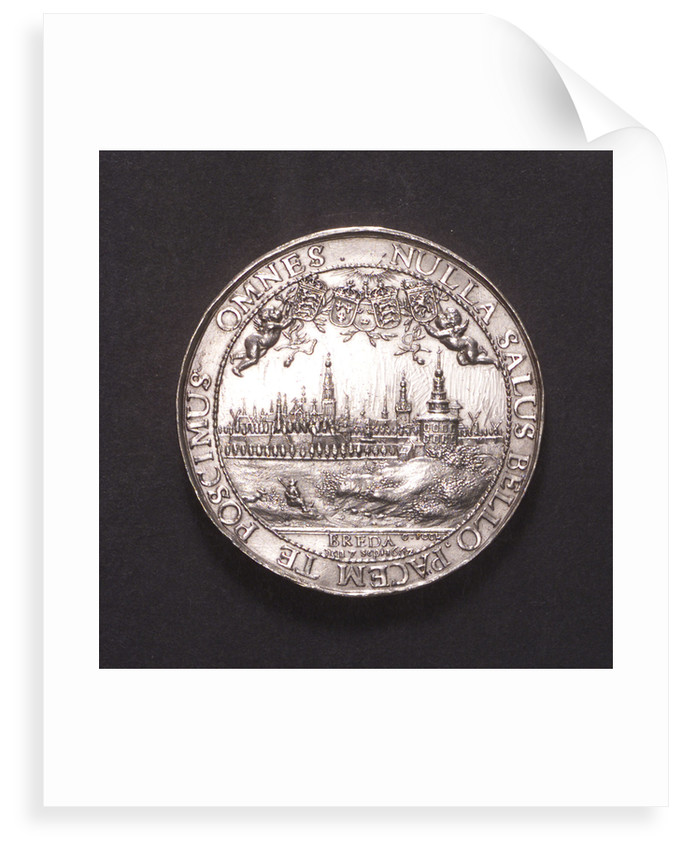 Medal commemorating the proclamation of the Peace of Breda, 1667; reverse by J. Pool
