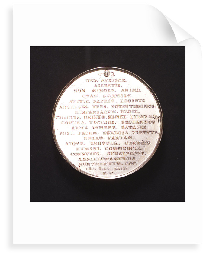 Medal commemorating the Peace of Breda, 1667; reverse by J. Lutma