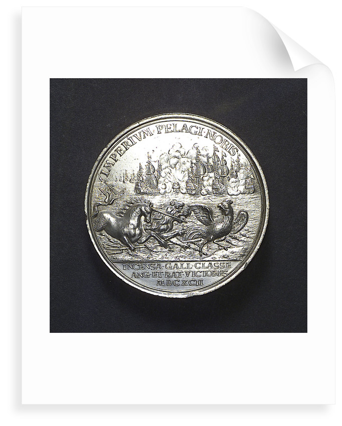Medal commemorating the Battle of La Hogue, 1692; reverse by J. Boskam