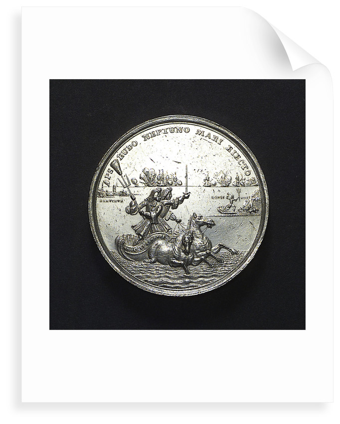 Medal commemorating the Battle of La Hogue, 1692; reverse by R. Arondeaux