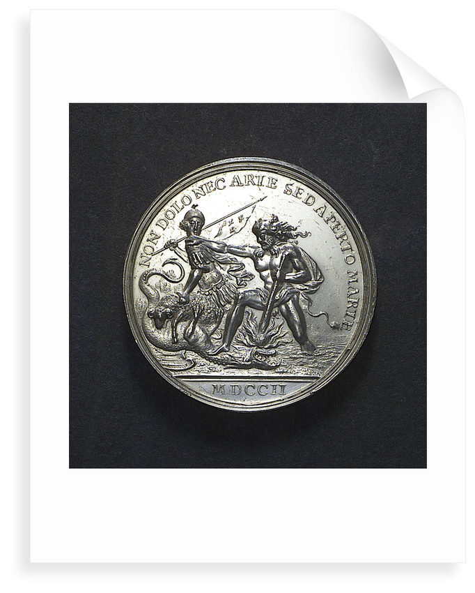 Medal commemorating the Expedition to Vigo Bay, 1702; reverse by J. Boskam