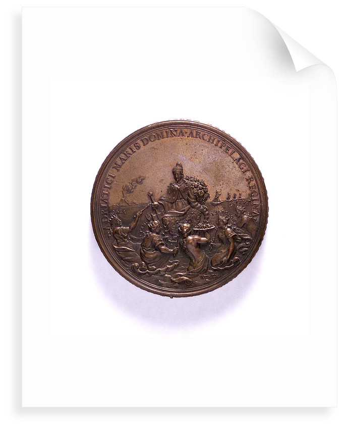 Medal commemorating the Venetian command of the sea; reverse by P.H. Muller