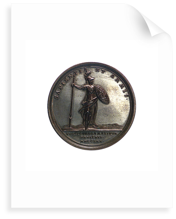 Medal commemorating the victories over the Turks; reverse by J.L. Oexlein