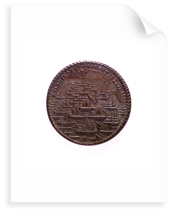 Medal commemorating the Battle of Lepanto, 1571; reverse by I.A. Rossi
