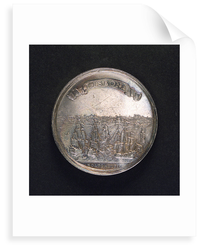 Medal commemorating the earthquake at Lisbon, 1755; reverse by M. Holtzhey