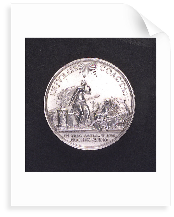 Medal commemorating the Battle of Doggerbank, 1781; obverse by Johann Georg Holtzhey