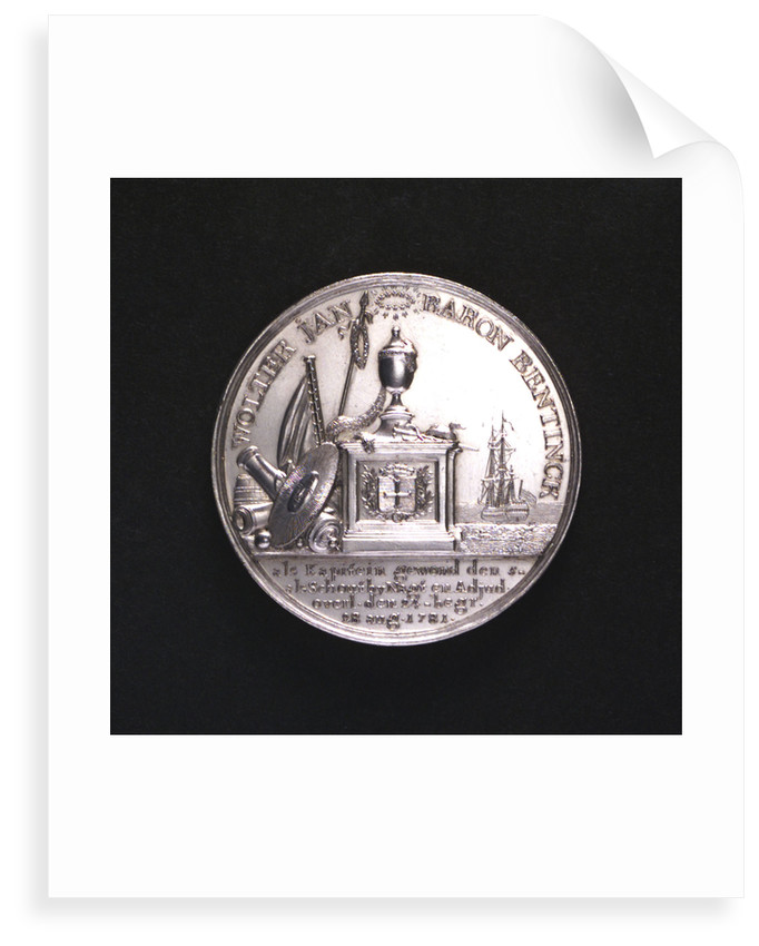 Medal commemorating the Battle of Doggerbank and Admiral Bentinck; obverse by Johann Georg Holtzhey