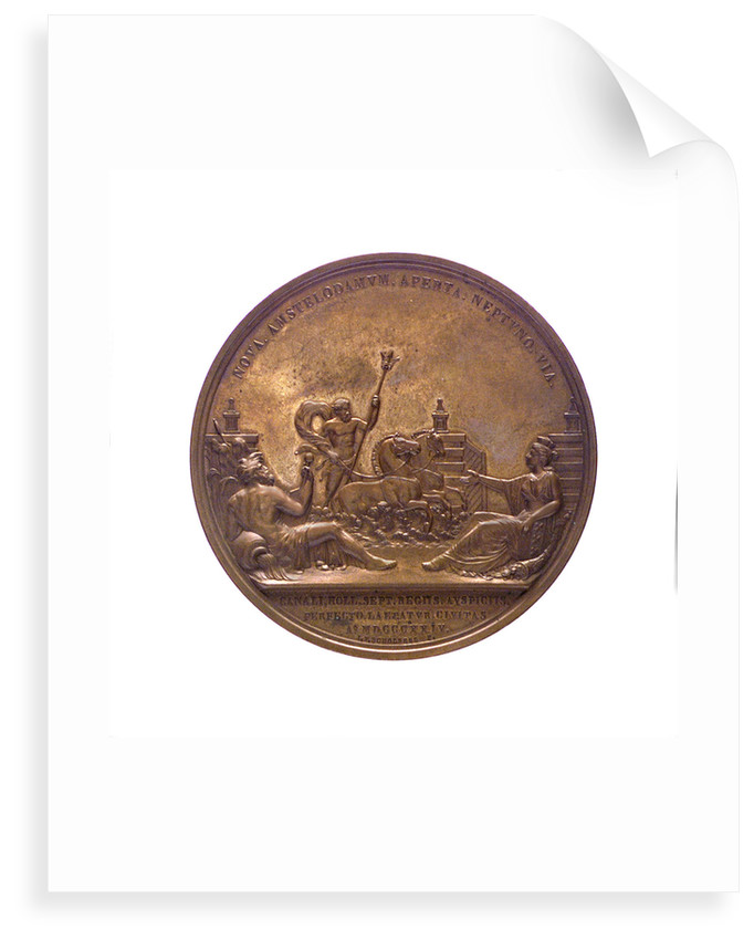 Medal commemorating the opening of the North Sea Canal, 1824; reverse by J.P. Schouberg