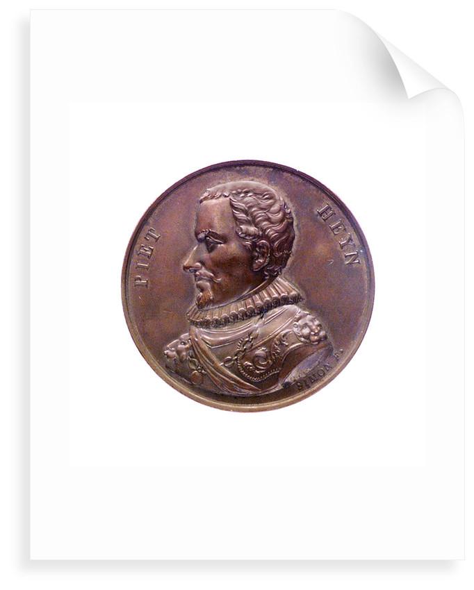 Medal commemorating Admiral Pieter Heyn (1578-1629); obverse by J.H. Simon