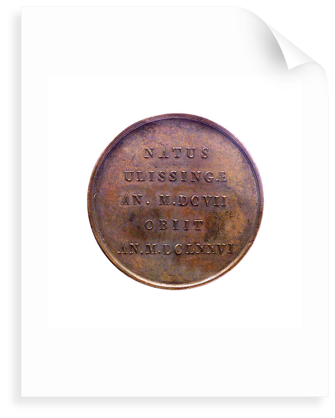 Medal commemorating Admiral Michel Adrianzoon de Ruyter; reverse by J.H. Simon