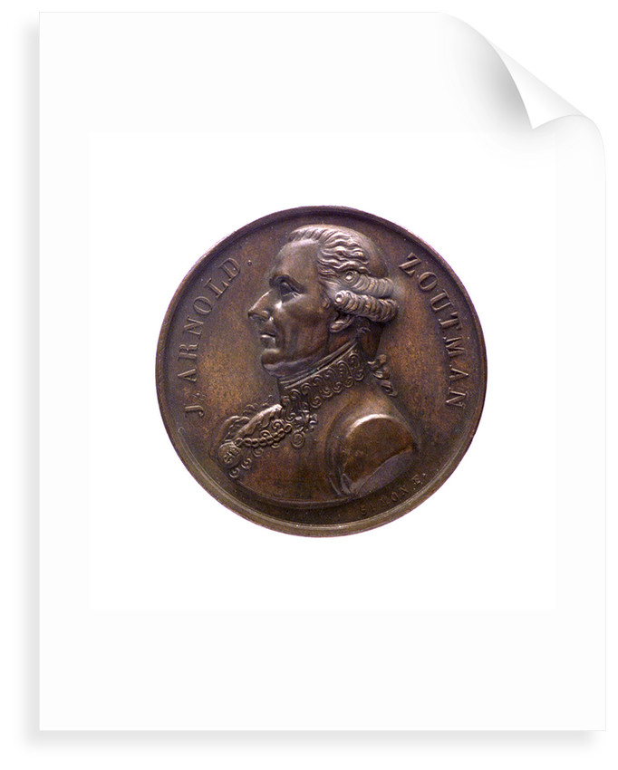 Medal commemorating Admiral Johan Arnold Zoutman (1724-1793); obverse by J.H. Simon