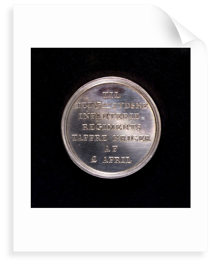 Medal commemorating the Battle of Copenhagen and the manning of the block-ships, 1801; reverse by D.F. Loos