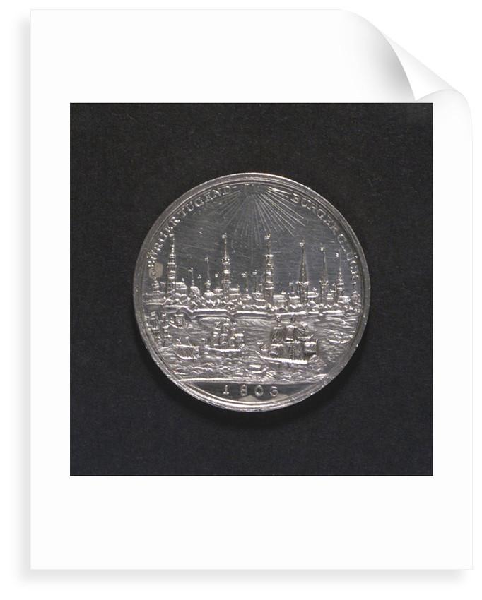Medal commemorating Hamburg Millenary, 1803; reverse by D.F. Loos