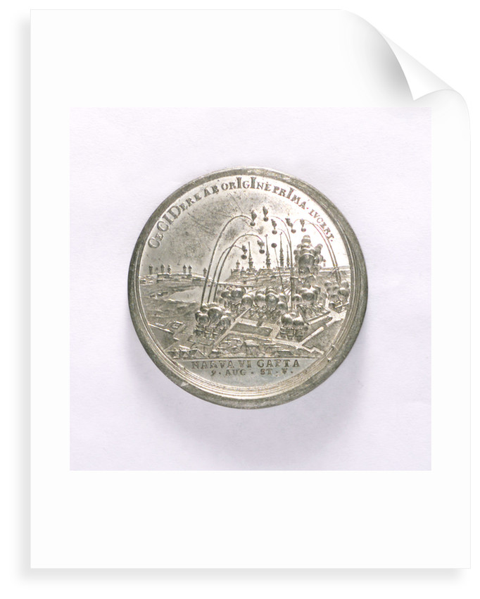 Medal commemorating the capture of Narva, 1704; reverse by T. Iwanov