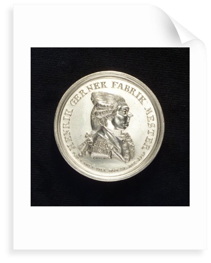 Medal commemorating Captain Henrik Gerner; obverse by J.J. Holm