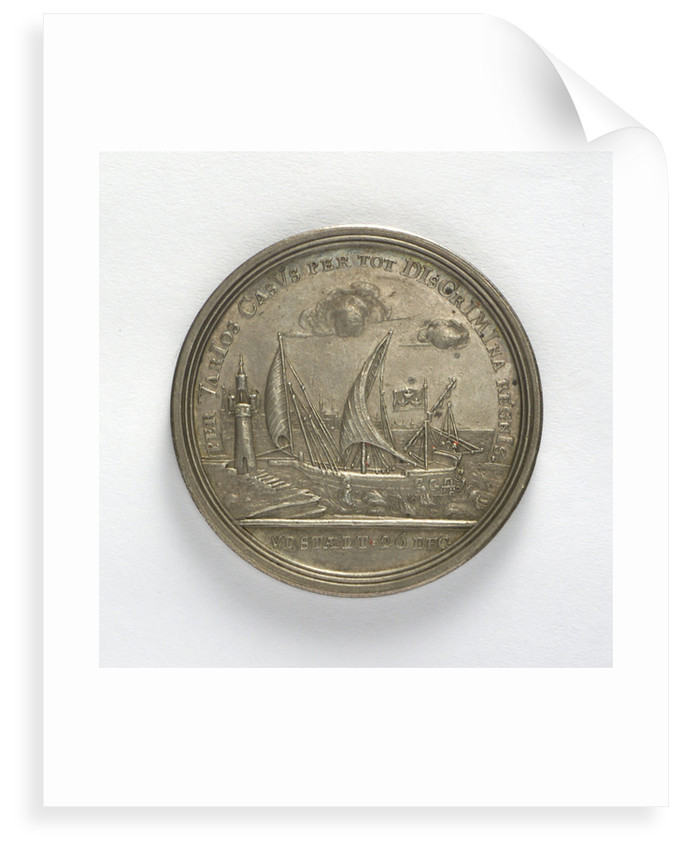 Medal commemorating the escape of Charles XII from Stralsund, 1715; reverse by unknown