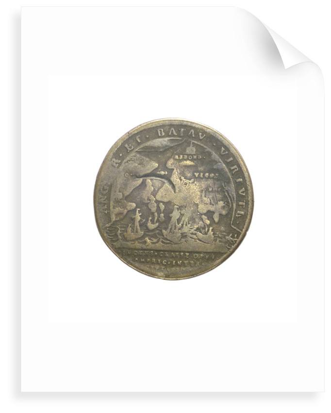 Counter commemorating the Expedition to Vigo Bay, 1702; reverse by J.G. Lauffer