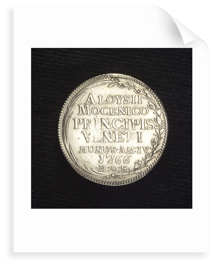 Counter commemorating the demonstration against the Tripoli pirates, 1766; reverse by Mario Soranzo
