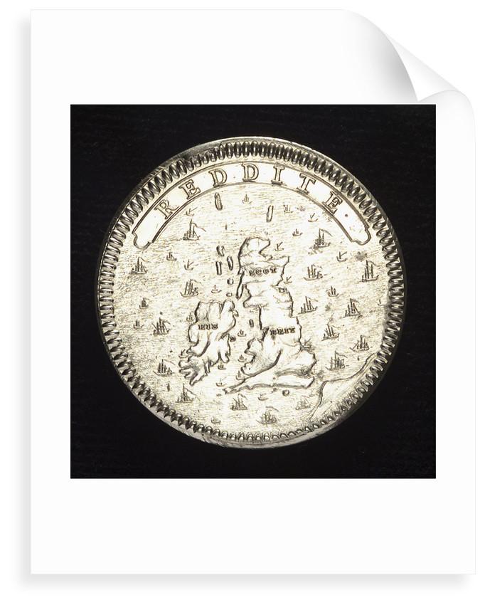 Medal commemorating James the Elder Pretender (1688-1766); reverse by N. Roettier