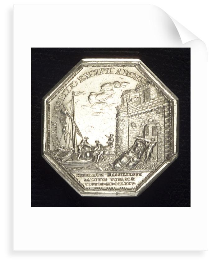 Medal commemorating the establishment of a lazaretto at Marseilles, 1775; reverse by N.M. Gatteaux