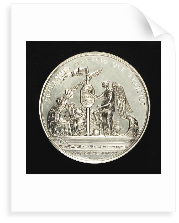 Memorial medal to Admiral Louis Alexandre de Bourbon, Comte de Toulouse (1678-1737), commemorating the action off Malaga 1704; reverse by R. Gayrard