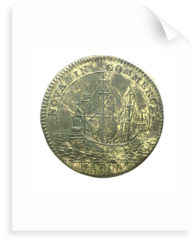 Counter commemorating the cruise of Beauchesne to the coasts of Chile and Peru for trade purposes; reverse by unknown