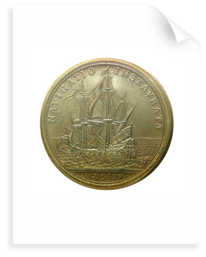 Medal commemorating the strengthened navy; reverse by J. Mauger