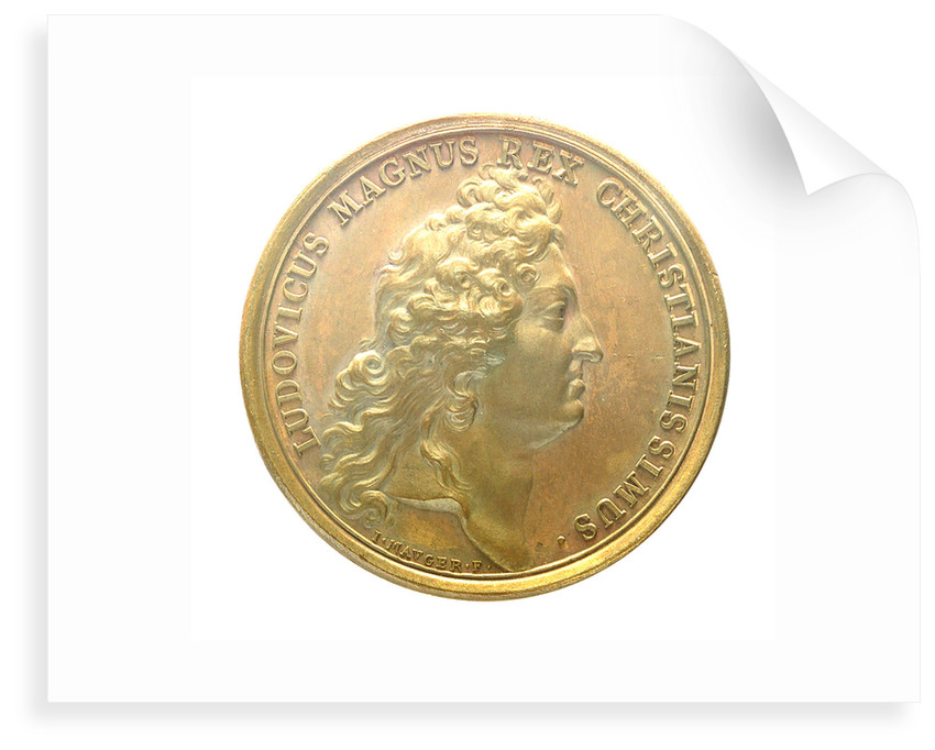 Medal commemorating the Tripoli pirates defeated at Chios, 1681; obverse by J. Mauger