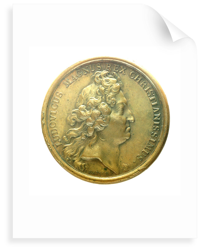 Medal commemorating the capture of Barcelona, Ath and Cartagena, 1697; obverse by J. Mauger
