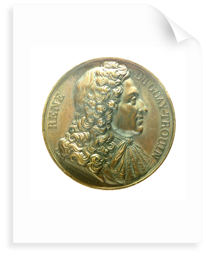 Medal commemorating Admiral René Duguay-Trouin (1673-1736) by Armand Auguste Caqu