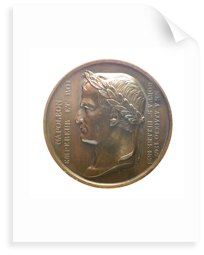 Medal commemorating the translation of the body of Napoleon from St Helena to Les Invalides, 1840; obverse by Emile Rogat